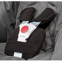 ByBUM® - Protectores para arnés o cinturón de seguridad - Aptos para portabebés, cochecitos, sillas de seguridad (p. ej. Maxi Cosi City SPS, Cabrio, Cybex Aton, etc.; disponibles en muchos colores; FABRICADOS EN LA UNIÓN EUROPEA