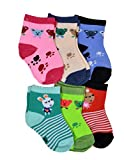 #6: Crux&hunter 6 pair cotton assorted socks of baby boy's and girl's (Age group 0-9 months)