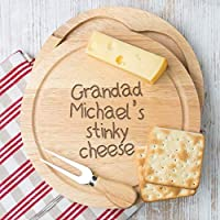 Personalised Cheese Board Set for Grandad/Fathers Day Gifts for Grandad/Personalised Grandad Gifts/Grandad Birthday Gifts From Grandchildren Grandson and Granddaughter