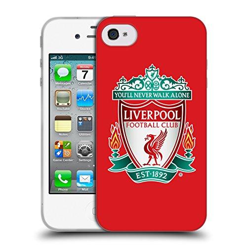 Offizielle Liverpool Football Club Schwarz 2 Crest 1 Soft Gel Hülle für Apple iPhone 6 / 6s Rot 1