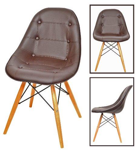 Conception classique chaise des années 50 tabouret de bar chaise de cuisine salle à manger chaise en bois en couleur marron