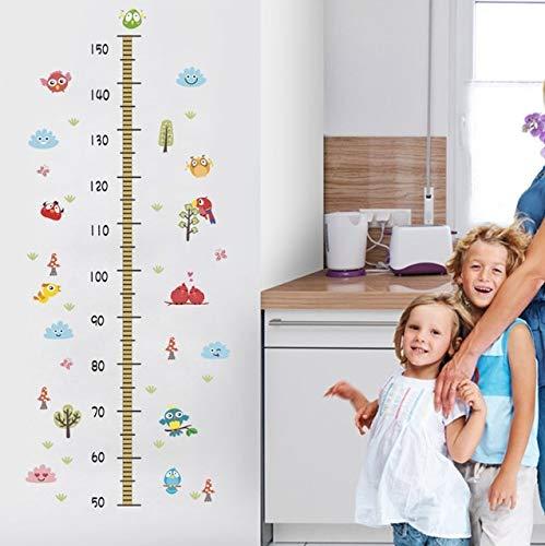 YSFU Stickers muraux Grandir avec De Beaux Animaux Taille Mesure Stickers Muraux pour Chambres d'enfants Décoration Murale Art DIY Peinture PVC Home Croissance Graphique Stickers