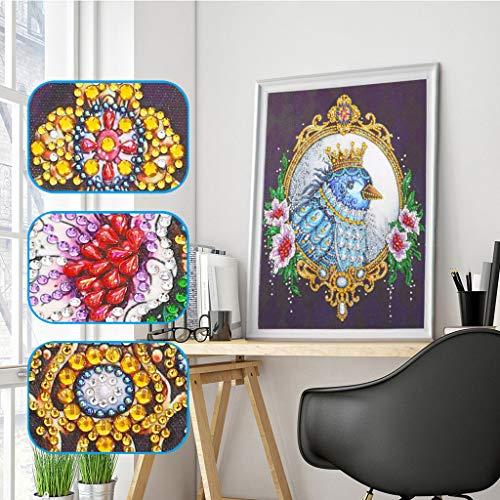 Amhomely Eule 5D Diamant-Malerei Kit,Intelligenzspielzeug für Kinder,DIY 5D Diamant Painting Kristall Stickerei Kreuzstich Arts Craft für Home Wand-Decor Fotografie-Requisiten-Hintergrund