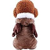 SOMESUN Haustier Hund Welpen Weste Jacken Winter Kleidung Welpen Hund Katze Mantel Kleid Pullover Bekleidung (30CM Brust, Khaki)
