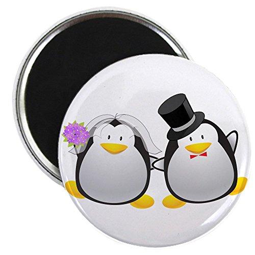 CafePress - Penguin Bride and Groom Magnet - 2.25