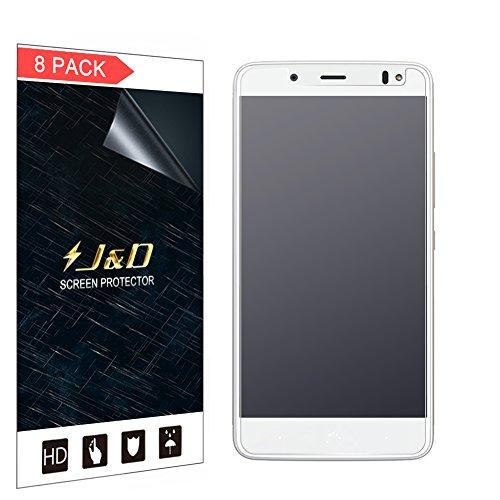 JundD Kompatibel für 8-Pack BQ Aquaris VS Plus Bildschirmschutzfolie, [Antireflektierend] [Nicht Ganze Deckung] Matte Folie Schutzschild Bildschirmschutzfolie für BQ Aquaris VS Plus - Nicht für BQ Aquaris VS