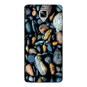 DASM United Oneplus Three Premium Back Case Cover - Shinny Pebbles