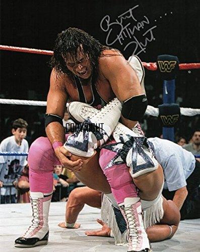 Bret Hart wrestling fotografia firmato edizione limitata + stampato Autograph