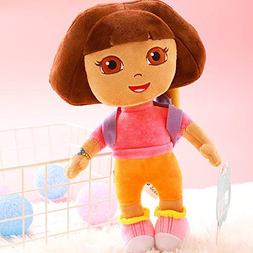 SDFAF Echte Liebe Abenteuer Dora Plüsch Spielzeug Puppe Animation Mit Kreativen Kinder Puppe SLY Puppe 30cm Dora -