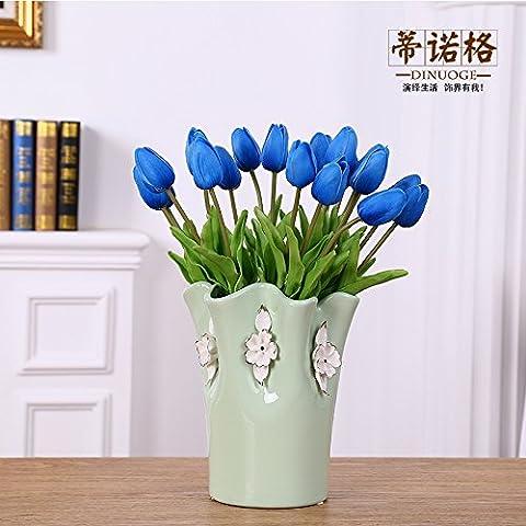 Maivas Décoration Vase en céramique européenne Creative Eau Culture Arrangement