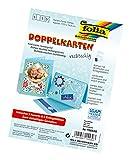 folia 150530 - Doppelkarten, ca. 10,5 x 15 cm, je 5 Karten (220 g/qm), Kuverts und Einlagen, himmelblau