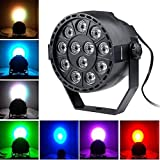LED Par Licht Spotbeleuchtung Bühnenbeleuchtung Lautstärke Ton akustische Steuerung Strahler Scheinwerfer Lichteffekt für Party Disco DJ schow Licht Projektor (1er Set, 12 LEDs)