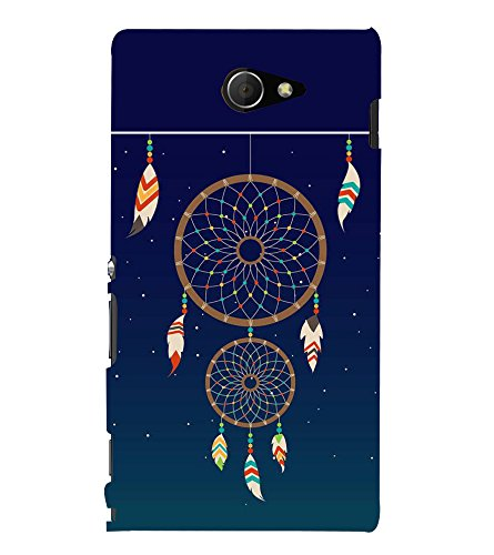 Fiobs Designer Back Case Cover for Sony Xperia M2 Dual :: Sony Xperia M2 Dual D2302 (Multicolor Ethnic Design)