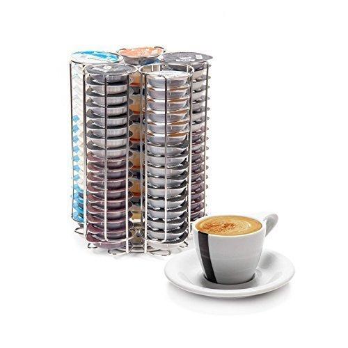 Neotechs Tassimo Drehbarer T-DISC Kapselhalter 5 Reihen 80-tlg. Kaffeepad Spender Chrom Bosch