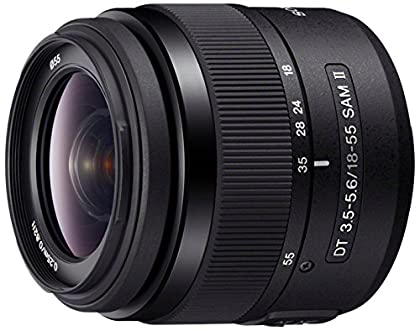 Sony 18-55mm f/3.5-5.6DT SAM - Objetivo para Sony (distancia focal 18-55mm, apertura f/3.5-36, zoom óptico 3x,diámetro: 55mm) negro
