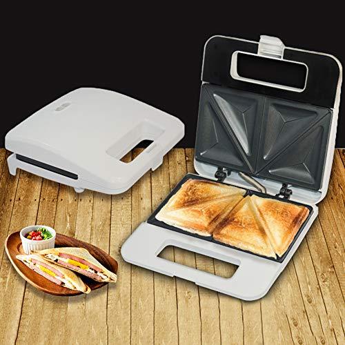 0Miaxudh Mini Sandwich Toaster, elektrischer Sandwich Maker Toaster, Multifunktionsküche Frühstück Non-Stick Brotmaschine