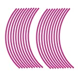 JOllify Felgenrandaufkleber für dein Fahrrad, MTB, Downhill, Freeride, Dirt, Fully, Hardtail, usw.r - pink