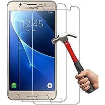 [2-Unidades] SamsungJ52016Cristal Templado Hepooya J5 2016 Protector de Pantalla para Samsung Galaxy J5 2016 VidrioTemplado Alta Definicion sin Burbujas 9H Dureza Anti-golpe Ajuste Perfecto CristalTempladoJ52016
