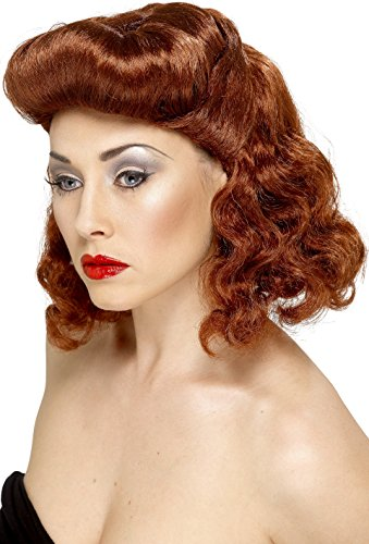 Smiffys, Damen Pin Up Girl Perücke mit Locken, -