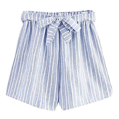 b5814f63a140 Women Simple Shorts, LANSKIRT Sale Ladies Summer Casual Striped Slim Fit  Hotpants Beachwear Holiday Bermuda
