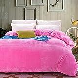 Unbekannt WLL Modernen Minimalistischen Stil Farbe Verdickte Double Layer Polyester Bettbezug - K 220 * 240 cm (87 x 94 Zoll)