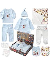 Sets de Regalos Para Recién Nacidos Baby Equipo Inicial Ropa de Baño Babero Baby con 10 Piezas para Niños Niñas