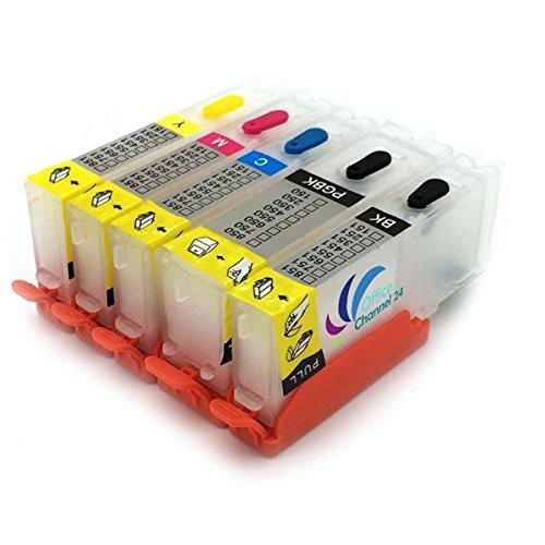Office Channel24 - Befüllbare Druckerpatronen kompatibel für PGI570XL CLI571XL inklusive Auto Reset Chip -