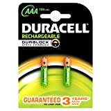 #5: Duracell Plus 5000166 AAA Rechargeable Batteries 750 mAh (Pack of 2, Green)