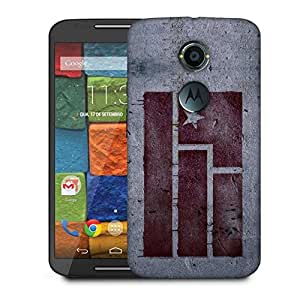 Snoogg Red Flag Designer Protective Phone Back Case Cover For Moto X 2nd Generation