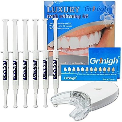 Kits de blanqueamiento Grinigh® Cero Peróxido Láser Kit de blanqueamiento para uso doméstico con bandeja incorporada y gel de jeringas