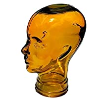 AMP3 Luxury Glass Head Headphones Stand Colour YELLOW