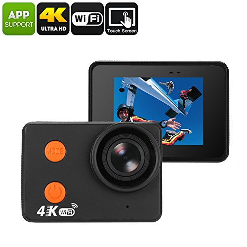 Waterproof 4K Sports Action Camera - Bare Metal Body, 4K 30FPS, 160-Degree Lens, 20MP CMOS, 2 Inch Display, WiFi, 10M Waterproof