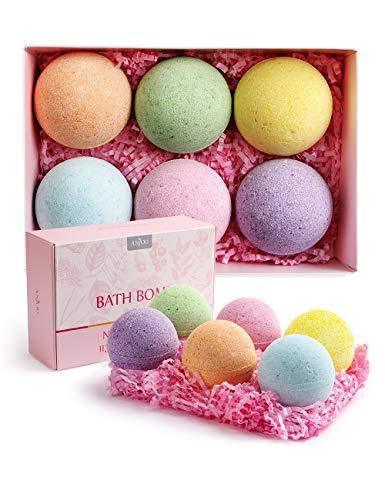 Badebomben Geschenkset ANJOU badekugel Geschenk set 6er Handgefertigte mit natürliche ätherische Öle für feuchtigkeitsspendende perfekte Geschenkideen für Freundinnen Frauen Mütter usw.