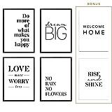 Heimlich® Premium Poster (4 Stück in DIN A4) | Große Auswahl an Motiven im Shop | auch mit Rahmen » Love More «