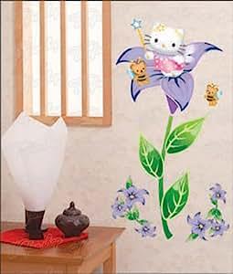 wandaufkleber wandtattoo wandsticker hello kitty kind kinderzimmer wag 022. Black Bedroom Furniture Sets. Home Design Ideas