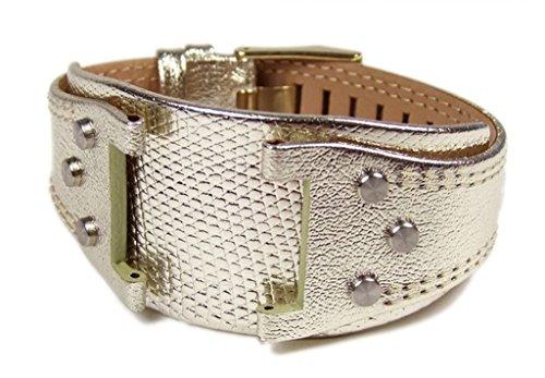 Police Glory Ersatzband Uhrenarmband Leder Band Goldfarben für Damenuhr P.11598L-LB3