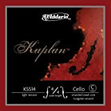 D\'Addario Bowed Corde seule (Do) pour violoncelle D\'Addario Kaplan, manche 4/4, tension Light