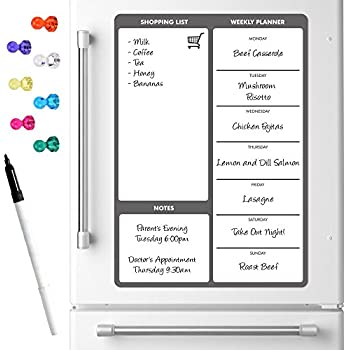weekly meal diet planner magnetic a3 dry wipe whiteboard notice memo board kitchen fridge