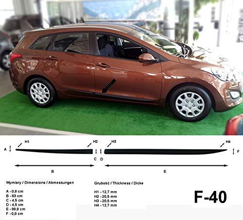 Preisvergleich Produktbild Spangenberg Seitenschutzleisten schwarz für Hyundai i30 CW II Kombi 2. Generation i30cw Baujahre 2012-2017 F40 (370004001)