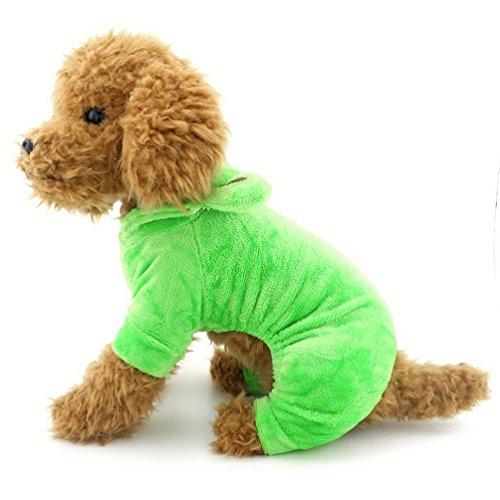 Pegasus Kleiner Hund Bekleidung für Mädchen Jungen Samt Hund Frosch Kostüm Weich Pajams Halloween Apple Grün (Apple-halloween-kostüme)