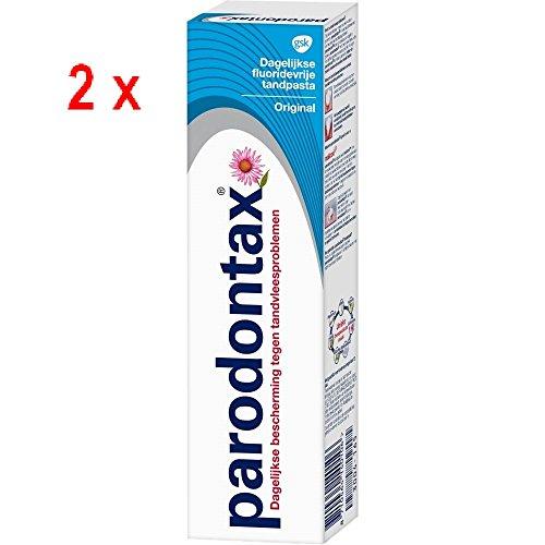 2 x Parodontax Zahncreme ohne Fluoride - Blau - 75ml