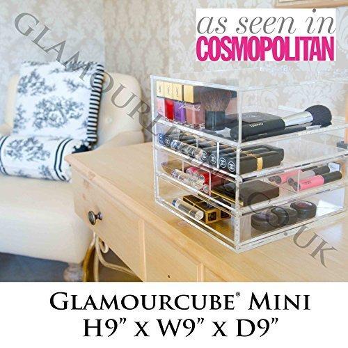 Housse Glamourcube Mini Acrylique Transparent de Stockage Lucite Cosmetics Beauty Maquillage résistant Étui de rangement fabriqué au Royaume Uni – comprarse Par A-LISTERS