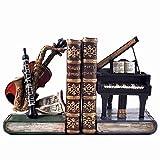 Classical Strumenti Mensola Tidy Fermalibri–Storage Hipster stile Vintage Ufficio Studio Musica CD DVD piano