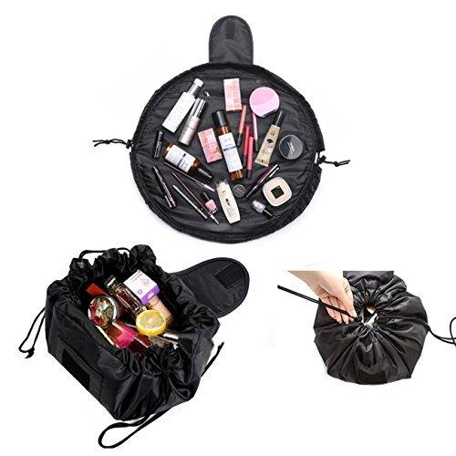 Kosmetiktasche mit Kordelzug,Lazy Ladies Storage Kosmetische Magische Tasche Große Kapazität Portable Quick Pack Wasserdichte Reisetasche