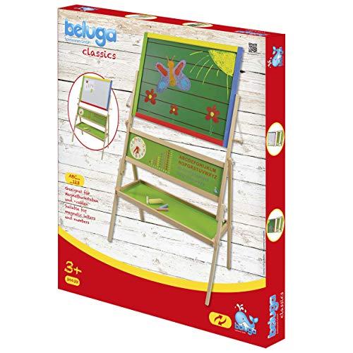 Beluga Spielwaren 30038 - Bunte Standtafel mit Zählrahmen und Lernuhr