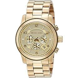 Michael Kors Reloj Cronógrafo para Hombre de Cuarzo con Correa en Acero Inoxidable MK8077