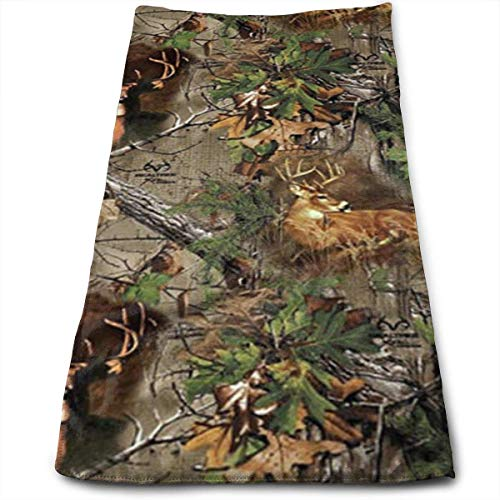 fhjhfgjghfjghfj Handtücher Hand Towels Beach Towel Real Tree Camo Deer Turkey Woods Highly Absorbent Quick-Dry Towels Kitchen Dishcloths,Dish/Tea Towels Sports Towel for Hand Face Gym, Yago and Spa Camo Deer Fall