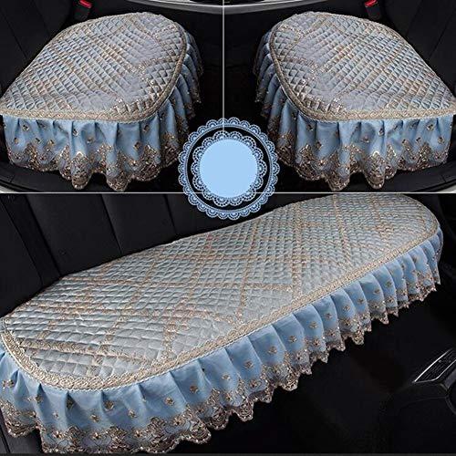 Preisvergleich Produktbild Sitzkissen für das Auto Generic Winter Zweifarbige Nähte Kristall Plüsch Auto Lenkradbezug In Wolle Kaschmir Nachahmung Autositzkissen - weiches Autositzkissen
