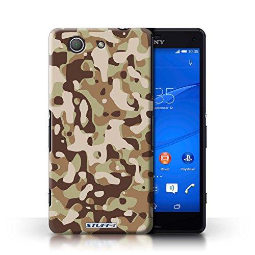 Kobalt® Imprimé Etui / Coque pour Sony Xperia Z3 Compact / Rose 4 conception / Série Armée/Camouflage Marron 3