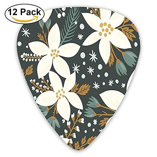 a Flowers Garden Blossoms Hawaiian Inspired Art Print Guitar Picks 12/Pack ()